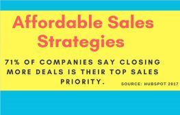 Affordable Sales Strategies That Work