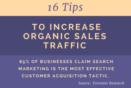 Tips to Increase Organic Sales Traffic